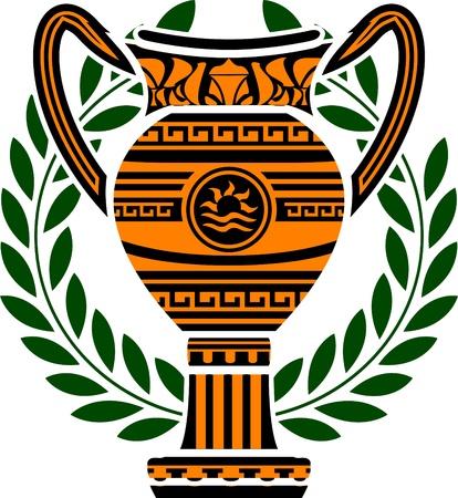 vasi greci: Coppa Campioni. illustrazione vettoriale