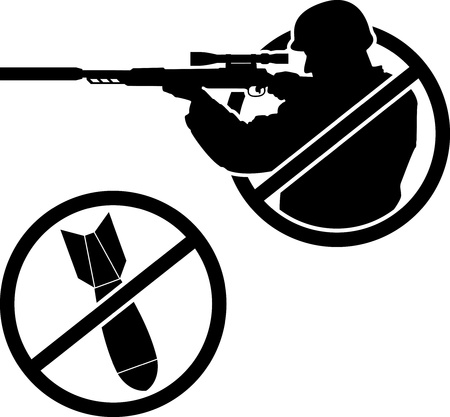 bombe atomique: non à la guerre. gabarit. illustration vectorielle