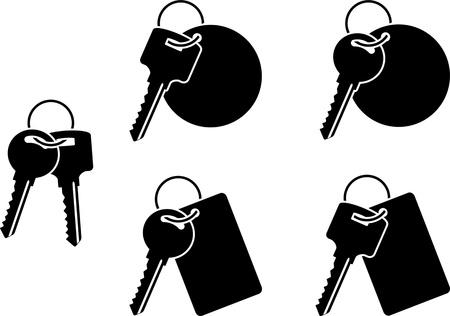 fifth: set of keys. fifth variant. vector illustration