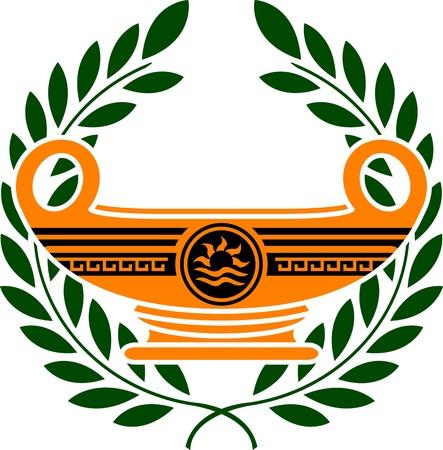vasi greci: coppa dei campioni. seconda variante. illustrazione vettoriale