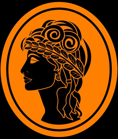 the greek woman. vector illustration