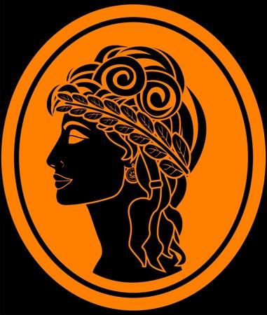 ancient roman: the greek woman. vector illustration
