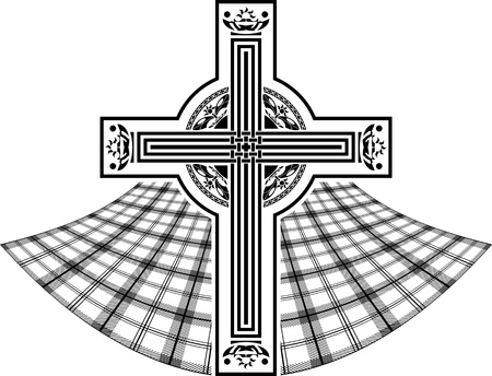 stencil of scottish celtic cross. vector illustration Vector