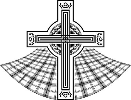 stencil of scottish celtic cross. vector illustration Vector