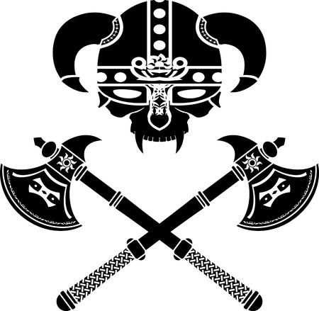 fantasy viking helmet. vector illustration
