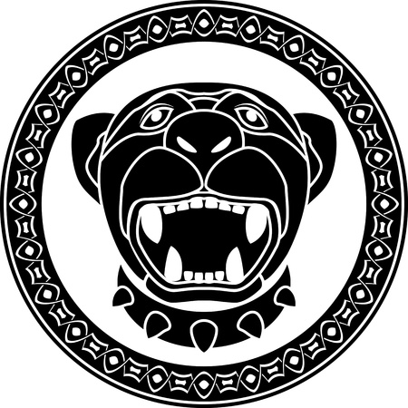 panther of aztec. stencil. first variant. vector illustration Vector