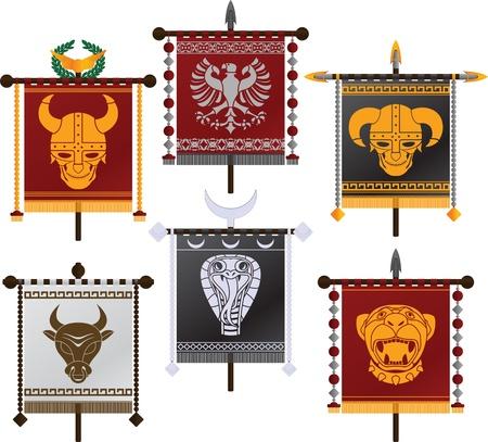 cascos romanos: conjunto de normas de la fantasía. segunda variante. ilustración