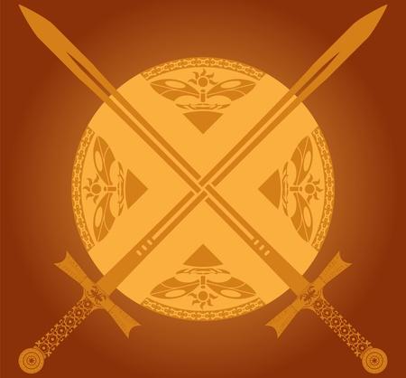 sunny swords.  Vector