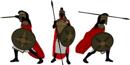 antichi guerrieri illustrazione vettoriale per il disegno