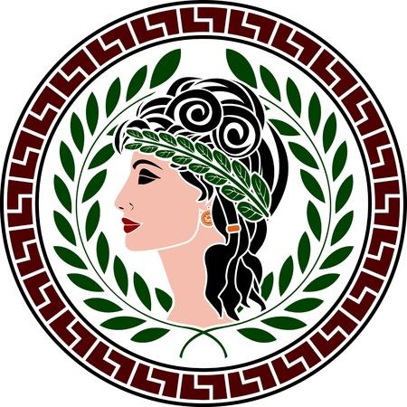 patrician: patrician women  stencil  second variant  vector illustration  Illustration