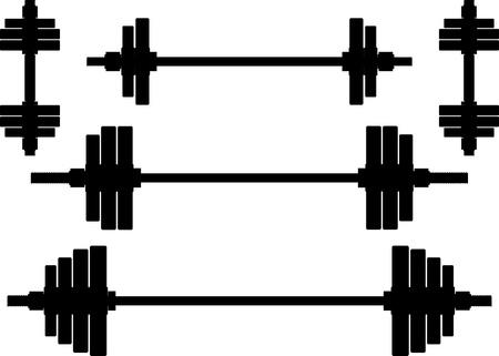 weights: sagome dei pesi secondo illustrazione wariant Vettoriali