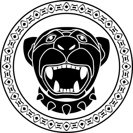 panther of aztec  stencil  second variant illustration Vector