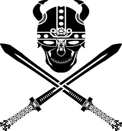 skull of the warr  Stock Vector - 13892379