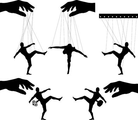 marioneta: marionetas tercera variante ilustración vectorial Vectores