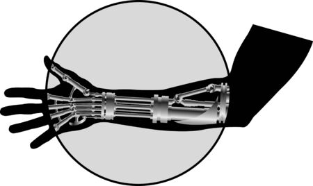 bionico: X-ray fotografia illustrazione vettoriale Vettoriali