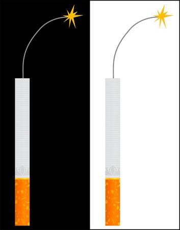 cigarette - TNT  Vector