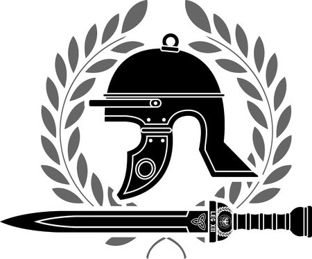 roman helmet stencil  fourth variant  Stock Vector - 14026567