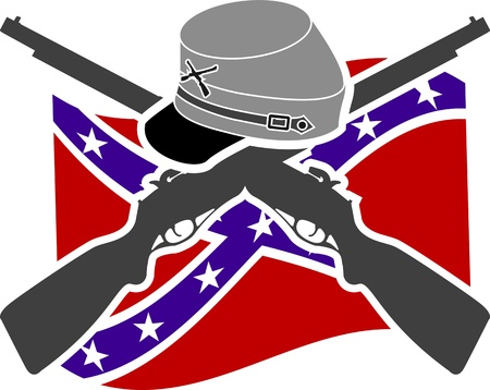 American Civil War  Confederacy  Stencil  Vector