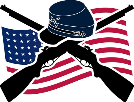 union flag: American Civil War  Union  Stencil