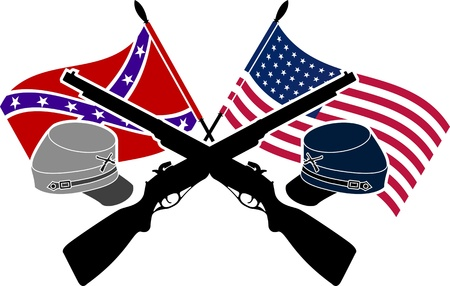 American Civil War. stencil. second variant. Vector