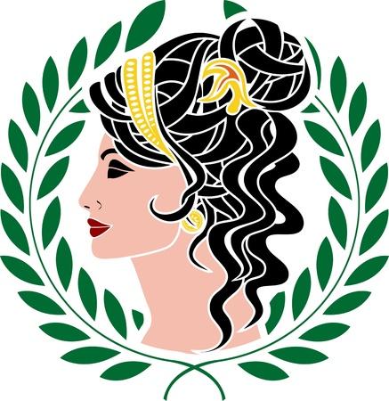 patrician: Aphrodite. stencil.
