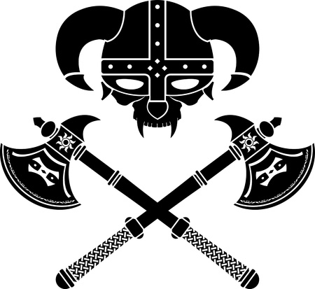 fantasy viking helmet. second variant. Vector