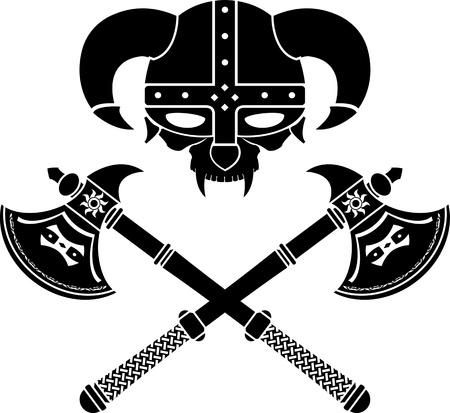viking helmet: fantasy viking helmet. second variant.