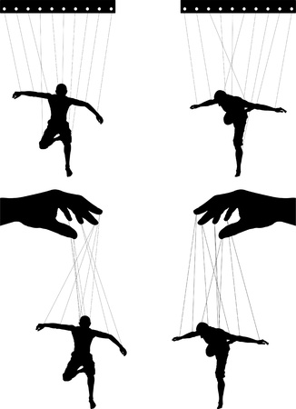 titeres: marionetas. cuarta variante. Vectores