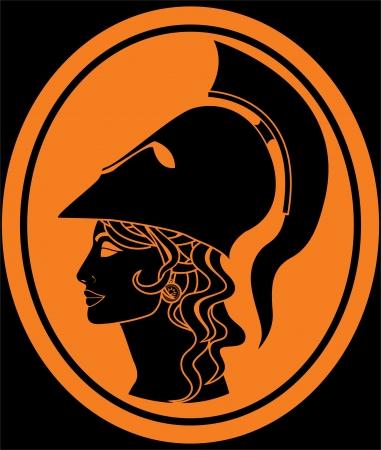 ancient greece: Minerva.  Illustration