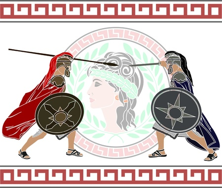 trojan war. stencil. second variant. Vector
