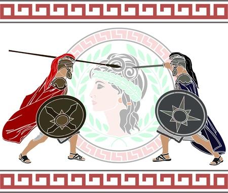 trojan war. stencil. second variant.