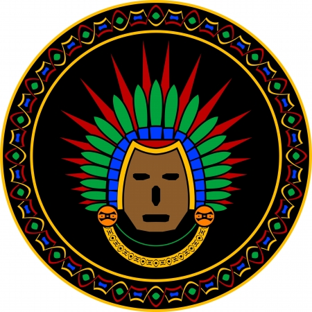 mayan mask.  illustration Vector