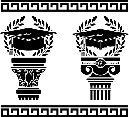education. stencil. fourth variant. vector illustration Vector