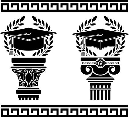 education. stencil. fourth variant. vector illustration Stock Vector - 15660005
