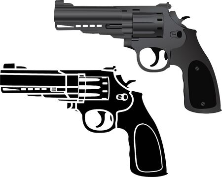 two pistols  illustration Stock Vector - 16475929