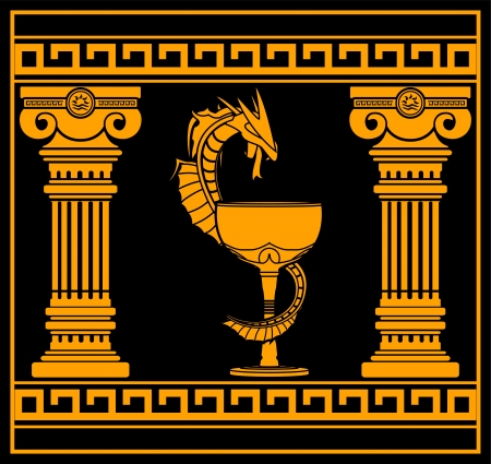 ancient pharmacy symbol. vector illustration Stock Vector - 16698395