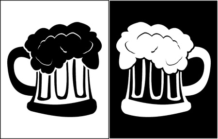 glass of beer. stencil. vector illustration