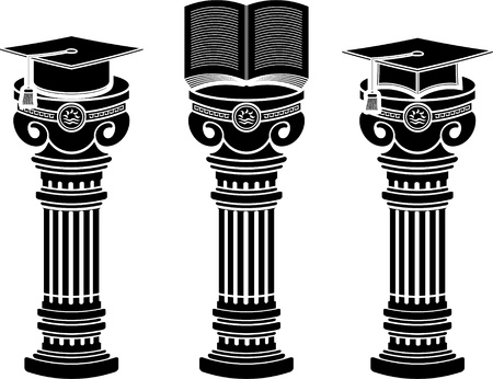 pedestals of education. stencils.  illustration  Vector