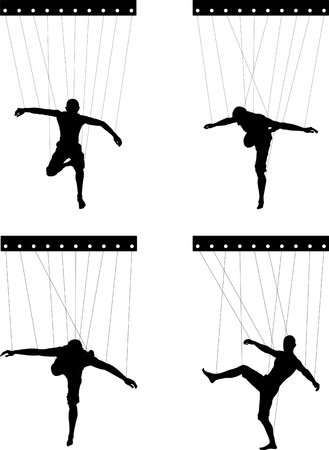 marionettes  fifth variant illustration Stock Vector - 17731768
