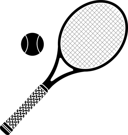 tennis racket  stencil  vector illustration  Vector