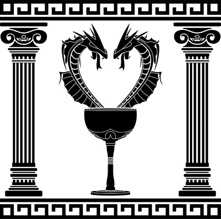 fantasy pharmacy symbol  second variant  stencil  vector illustration  Vector