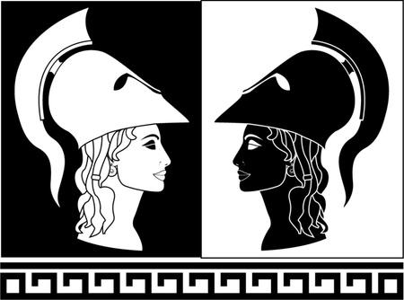 diosa griega: Athena ilustración vectorial