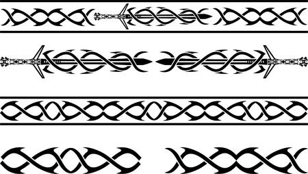vikings: fantaisie motif au pochoir vikings illustration vectorielle Illustration