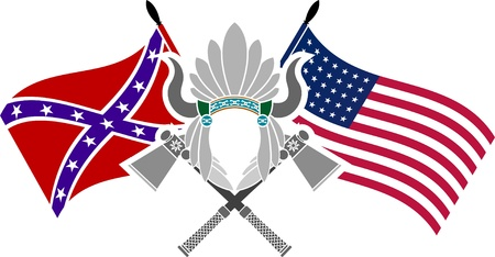 confederation: american civil war. stencil. fourth variant. vector illustration  Illustration