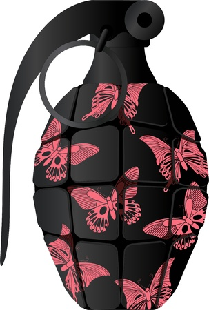 detonating: Glamour grenade. vector illustration