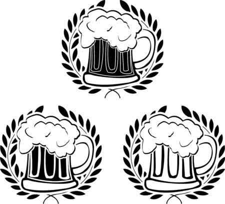 glory: glory of beer. stencils. vector illustration  Illustration