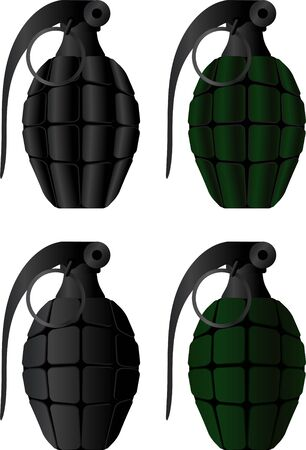 detonating: Grenades. vector illustration