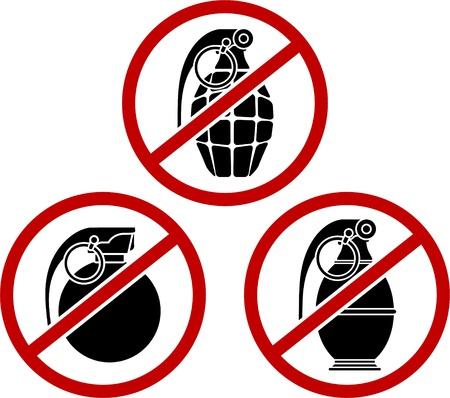 no war: No grenades. vector illustration  Illustration