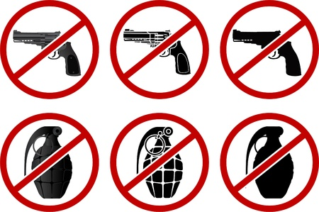 no pistols and grenades. vector illustration  Vector