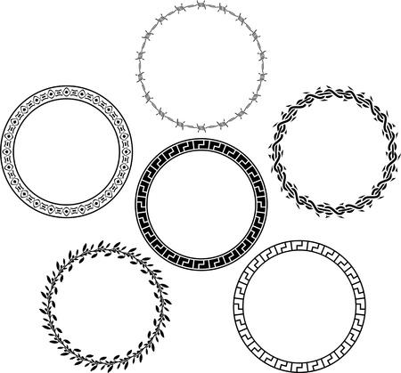 set of rings. stencils. vector illustration Stock Vector - 19578614